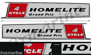 Two Homelite Grand Prix 4 Cycle Stickers. Left/right