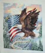 Flight Of Freedom Eagle Flag Dimensions Gold Collection Cross Stitch Completed