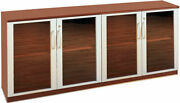 Credenza Cabinet With Glass Doors Modern Office Cabinet Meeting Room Furniture