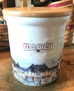 Longaberger Pottery 1999 2 Quart Homestead Crock With Woodcrafts Seal-able Lid