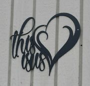 This Is Us With Heart Metal Wall Art Home Decor