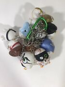 Lot Of 9 Angry Birds Chicks Keychain Toys 8