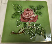 T And R Boote - Rose Flower - Antique Majolica Tile