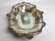Vintage Forbes Silver Co. Quadruple Oval Serving Bowl Dish 13andrdquo X 8 Andfrac12