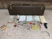 Rare Vintage Bow And Arrow Target Sport Archery Case And Accessories