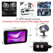 Motorcycle Dvr Dash Cam Wifi Fhd Rear View Camera Gps Recorder Touch Screen