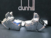 Alfred Dunhill Scotch Terrier Cufflinks Color Silver Condition Good From Japan