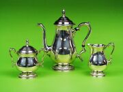 Prelude By International Sterling Silver Tea Set. Teapot Sugar And Creamer.