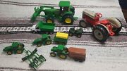 Mixed Lot Of John Deere Toys Ford Tractor Quad