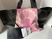 Celine Pink And Cremeandnbsptie Dye Canvas Tote New Authentic
