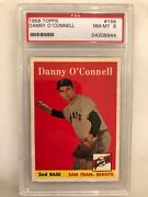 1958 Topps 166 Danny O'connell Psa 8