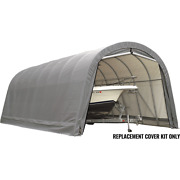 Shelterlogic Replacement Cover For The Garage-in-a-box Roundtop 15 Ft. X 40 ...