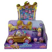 Shopkins Happy Places Royal Trends Convertible Car And Squirrel Palace Party Doll