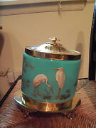 Antique 1890-1910 Glass And Handpainted Cracker/biscuit Boxpossibly Dior/moser