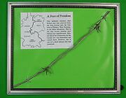 Authentic Historical Piece Of Iron Curtain West Germany German Barbed Wire
