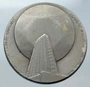 1974 Israel Large Diamond Industry And Gears Ministry Vintage Silver Medal I85592
