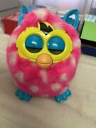 Hasbro Furby Boom Interactive Pink White Polka Dots With Blue Ears 2012