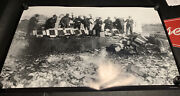 """Prohibtion Agents Smashing Cases Of Beer Bottles 33""""x52"""" Photo Print"""