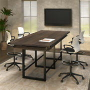 8and039- 16and039 Standing Height Conference Table 42h Counter Height Modern Meeting Room