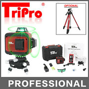 3d 3x 360anddeg Self Auto Leveling Rotary Green Laser Level Tripod Receiver Detector