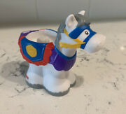 Fisher Price Little People Castle Boy Horse White With Gray Mane Saddle