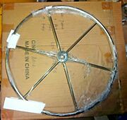 Sailboat Steering Wheel 24andrdquo Stainless 1andrdquo Shaft 7500