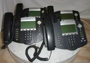 Lot Of 4polycom Soundpoint Ip550 Sip 2201-12550-001 Ip Phones See Notes