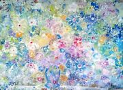 4 Ft Modern Art Contemporary Floral Tropical Garden Fantasy Painting