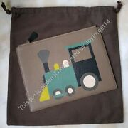 Auth Moynat And Pharrell Williams Collaboration Train Pouch/pochette Marquetry