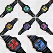 Casio Heavy Duty Illuminator Watch With Colour Screen Mod - 8 Different Colours