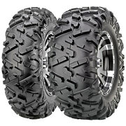 Set Of 4 Maxxis Bighorn 2.0 Front And Rear Atv Utv Tires 28x10.00r12 6ply