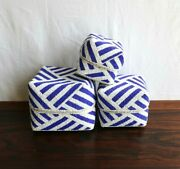 Baskets/boxes Bamboo Beaded Decorative B/w 3 In 1 Storage Planter Decor