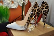 Christian Louboutin So Kate 120 Patent Degrade Leopard And White Pumps Sold Out