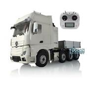 Rc 1/14 Lesu Metal Chassis Truck Hopper Sound Light Radio Hercules Actros Cabin