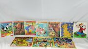 Vintage 80s Kids Puzzles Lot Disney, Whitman, Looney Toons, Popeye And More.