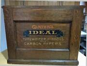 Antique Carters Ideal Cabinet - Typewriter Ribbons And Carbon Papers -