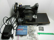 Vintage Singer Featherweight 221 Sewing Machine With Accessories Works