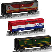 Lionel Cp, Cn, Bc Rail 6464 Sized Boxcars, Made In Usa By Metca Exclusively
