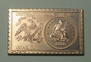 1866 United States Seated Liberty Quarter Dollar Numistamp Medal 1974 Mort Reed