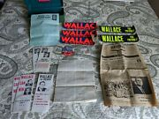 George Wallace For President Memorabilia Button Bumper Stickers Flyers Papers