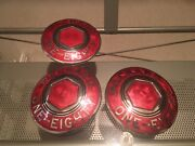 Set Of 3 Antique Packard One-eighty 180 Center Caps