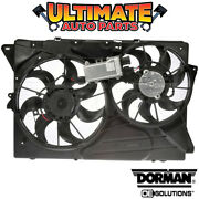 Radiator Cooling Fan W/controller 3.5l Turbo Or Non-turbo For 10-12 Ford Flex