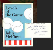 John Mcphee / Levels Of The Game Inscribed Signed 1st Edition 1969