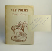 Dorothy Livesay / New Poems Signed First Edition 1955