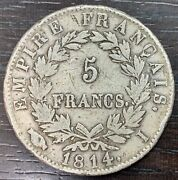 Napoleon The1st - 5 Francs 1814 I Limoges - Very Rare