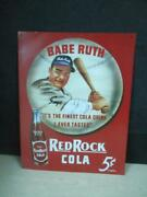 Babe Ruth Red Rock Cola Tin Sign 16 X 12