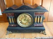Antique Gilbert Mantel Clock C1909 Hour And Half Hour Chime - Runs Great