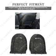 Forged Carbon Weave Oe-style Seat Back Replacement For 2018-2019 Tesla Model 3