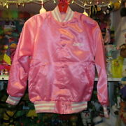 Barbie Vintage College Jacket Youth L Size Pink Dead Stock 1990and039s From Japan