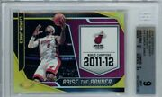 2019-20 Certified Raise The Banner 14 Lebron James Gold /10 Bgs 9 Jersey 1/1
